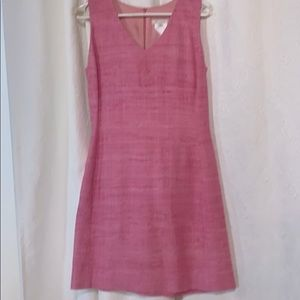 Pink les chemins blancs.  Lined 100% silk chemise.
